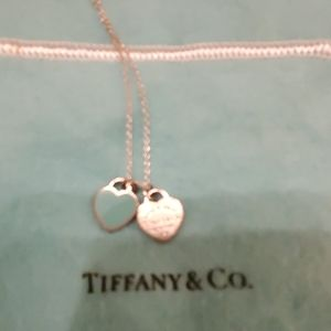Tiffany and Co. Turquoise double heart necklace.